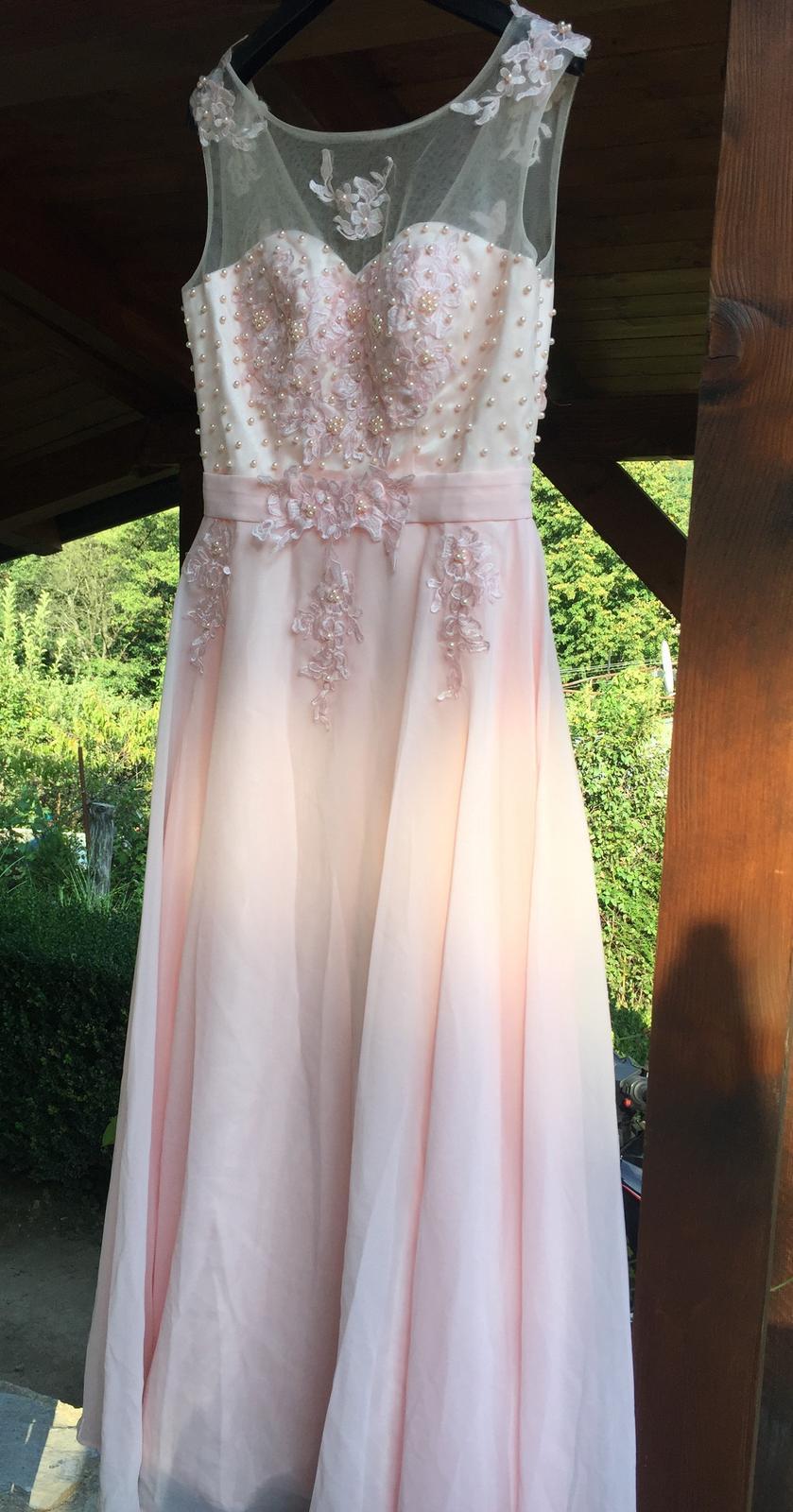 ružové spoločenské šaty  4e22d84a09e