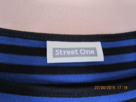 Dámské modré šaty s černými pruhy - Street One, 38