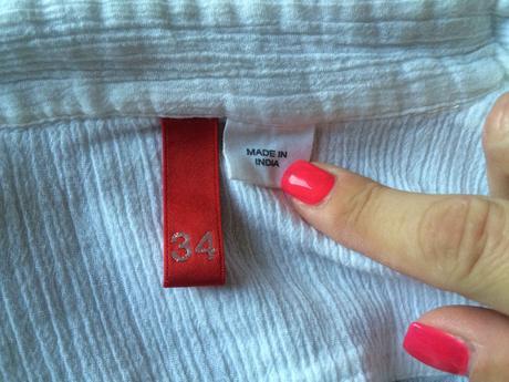 Krémová košile s kr.rukávem, HM, 36