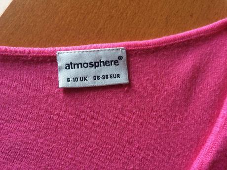 Růžový svetřík se 3/4 rukávem, zn. Atmosphe, S