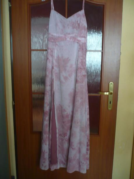 predám krásne trblietavé šaty staroružovej farby, 38