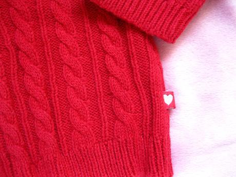 červený svetrík Carter's, 86