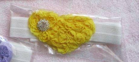 Srdiečková - žltá čelenka, nepoužívaná,