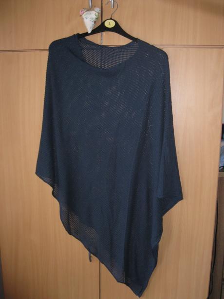 tenké pletené pončo , XL