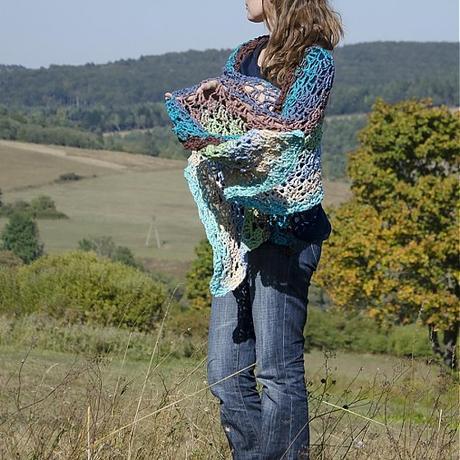 Veľký luxusný šál, nepoužívaný, pc 57 eur, XXL