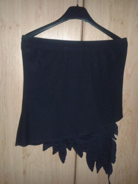 Asymetrická sukňa/tričko bez rukávov, M