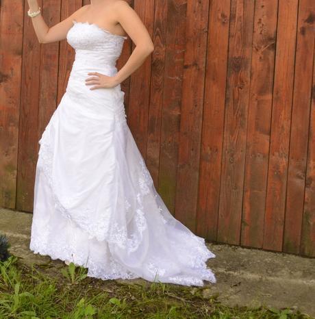 cisto biele svadobne saty, 38