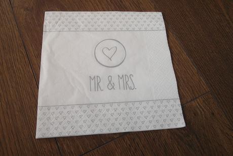 Servítky Mr. & Mrs. ,