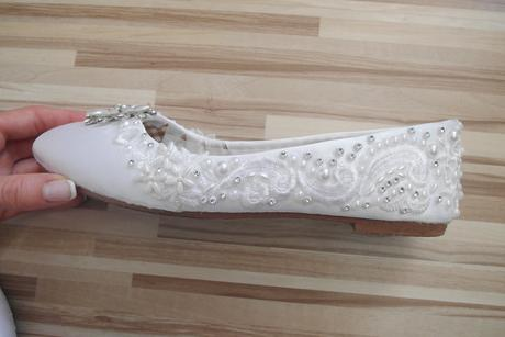 Svadobné balerínky HANDMADE, 40