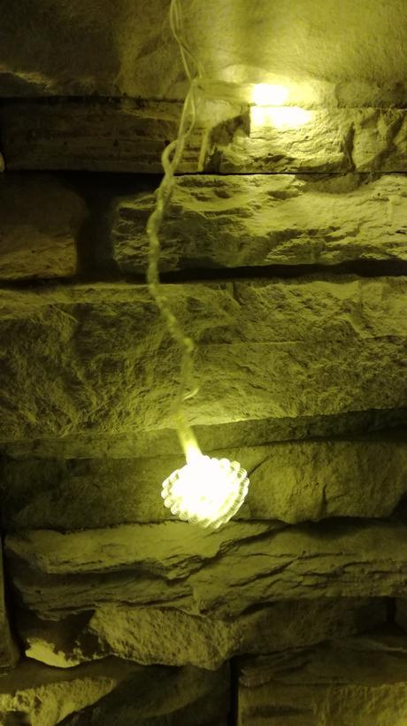 Svetelná stena - v tvare srdca,