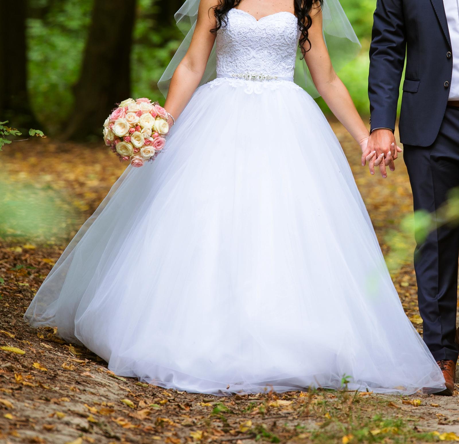 Svadobné šaty s obrovskou sukňou + šaty na redový d2ec2b626fe