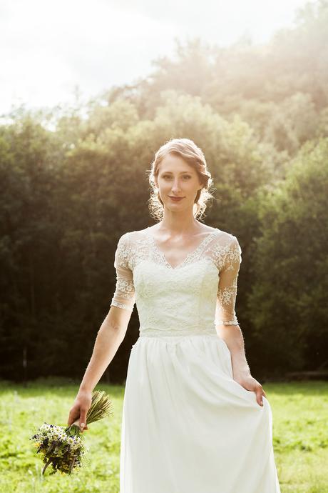 Něžné svatební šaty 2in1, 36