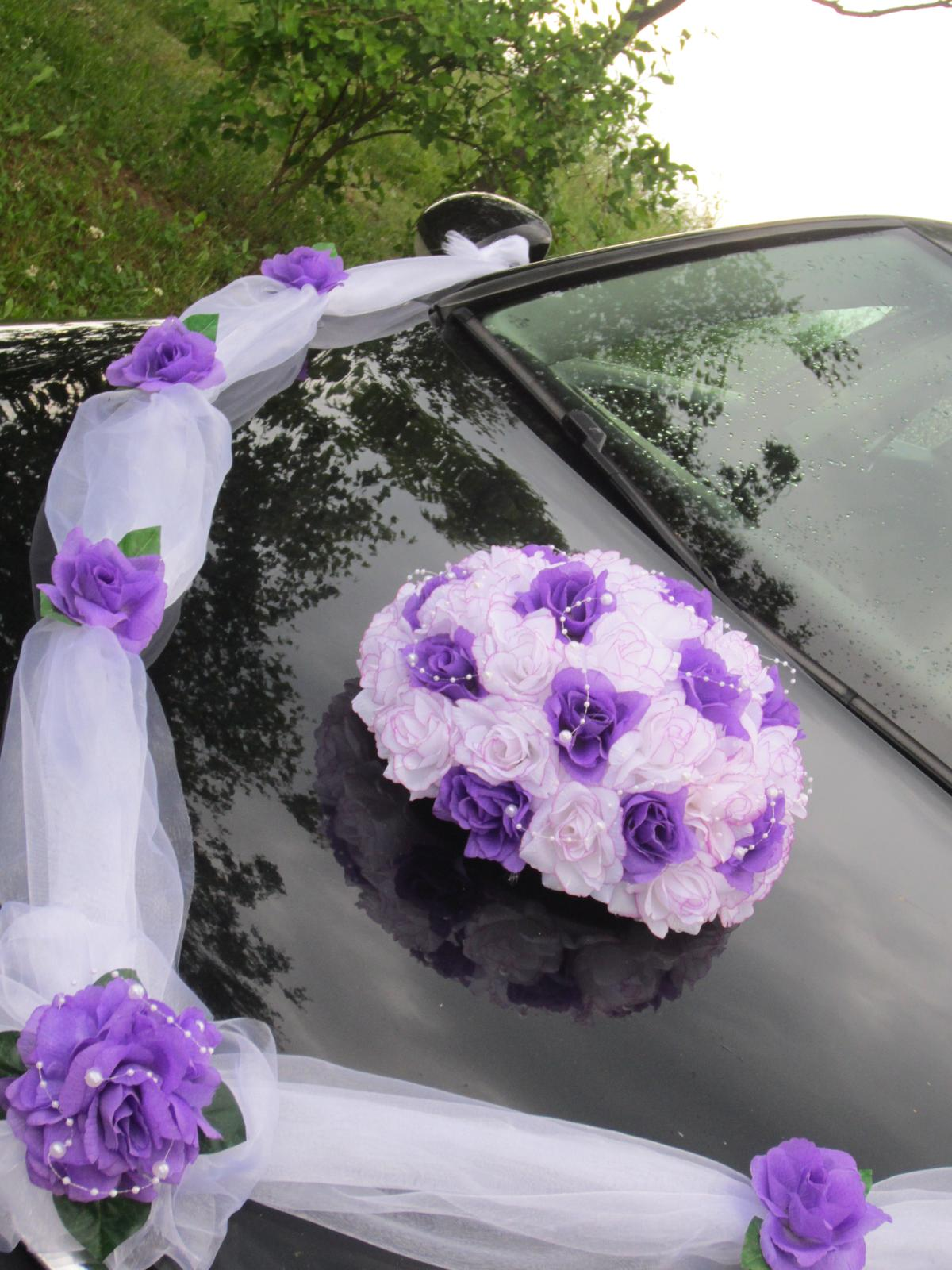 Svatebni Dekorace Vyzdoba Na Auto Trs Ruzi Buket 490 Kc