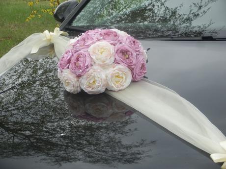Svatební dekorace,výzdoba na auto - trs,buket ,