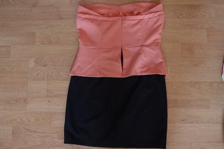 elegantné koktejlové krátke peplum šaty,M-L, 38-40, 38