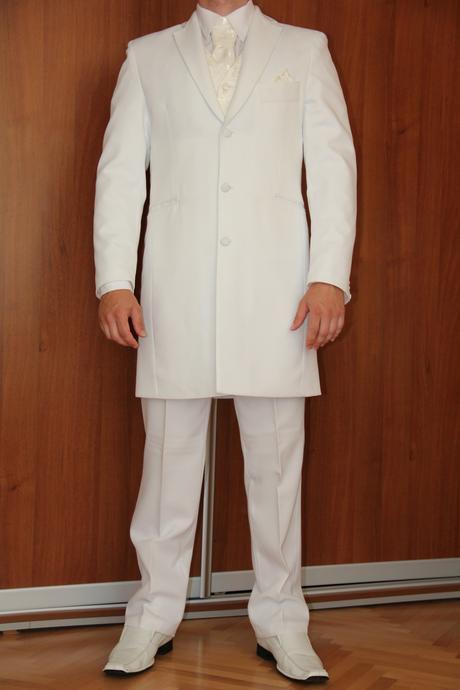 biely pánsky svadobný oblek, 52