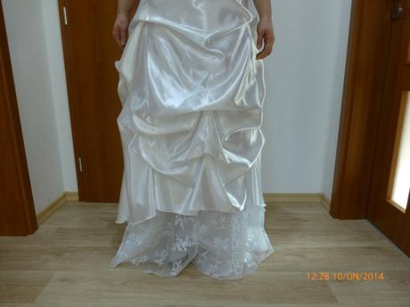 Bílé svatební šaty, možno i jako popůlnoční, 44
