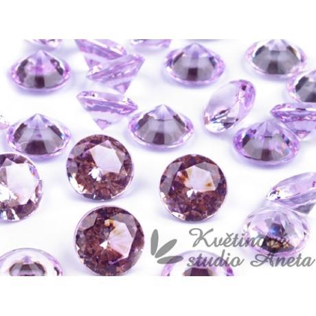 Akrylové diamanty fialové,