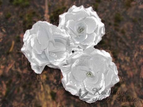 Květ růže stříbrný,