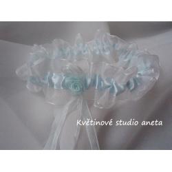 Svatební podvazky modré, 38