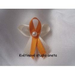 Svatební vývazky  oranžové,