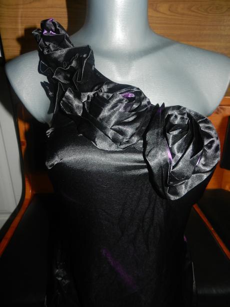 Čierno-fialové šatičky, M