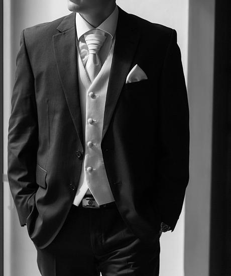 Svadobná vesta, kravata, servítka do saka, 50