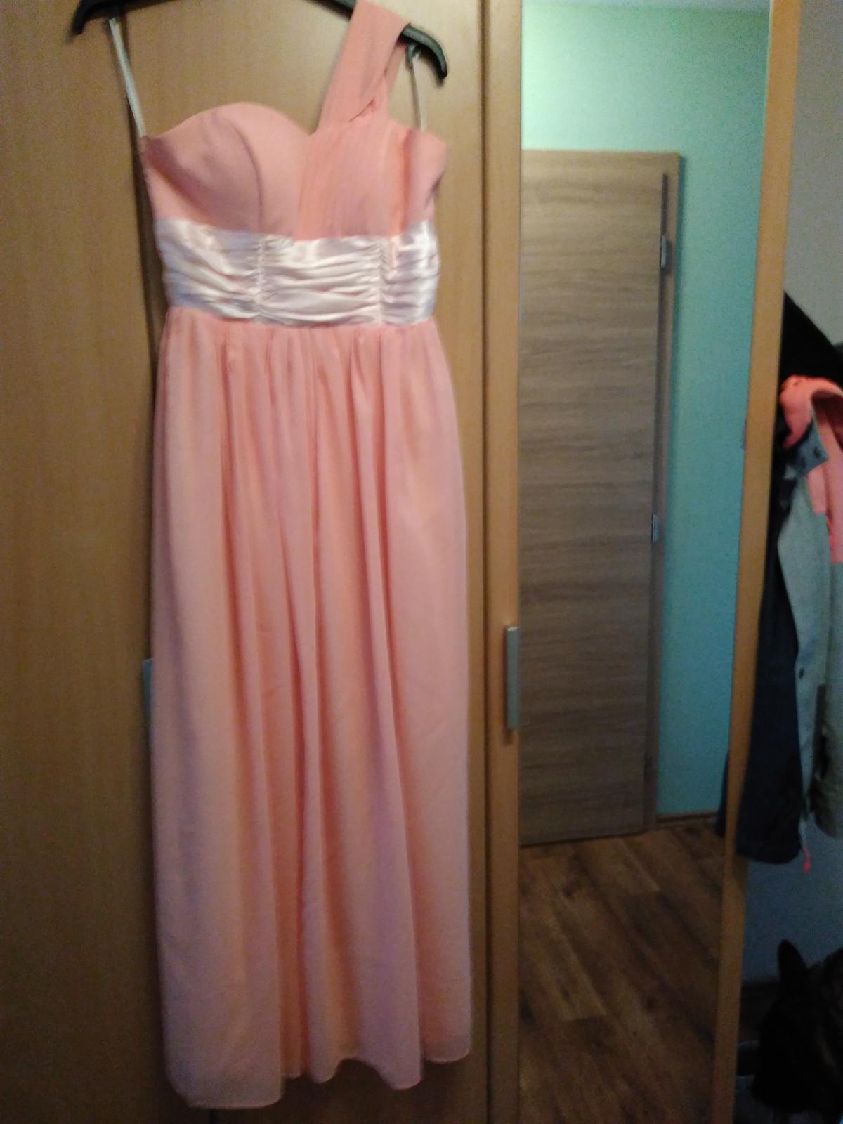 Lososové dlouhé šaty  c564ce81d9