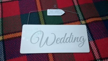 Drevena tabulka wedding,