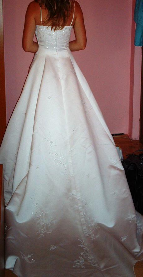 svadobné šaty,kúpené vo francúzku 34/36, 34