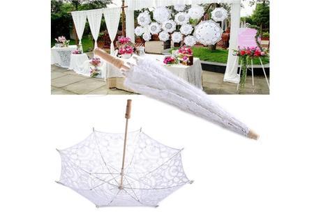 deštník krajkový,