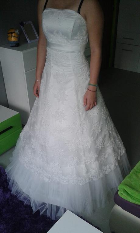 svatební šaty vel. 38-42, 38