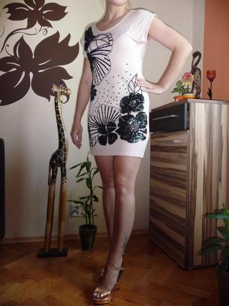 pastelové šaty s flitrikami zn. OASIS, 36