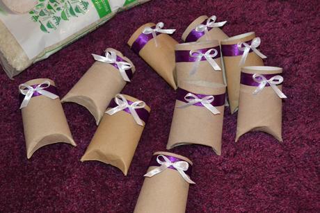 Kapsičky na svatební rýži 8 ks - vlastní výroba,
