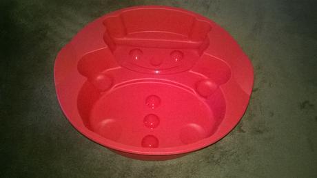 Tupperware silikonova forma snehuliak,