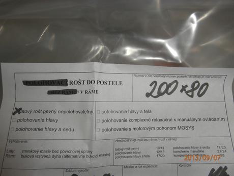 Nepoužívaný Matrac ortopedický Sara 160x200,