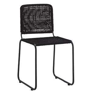 Čierna jedálenská stolička,