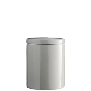 Keramická dóza sivá - vzduchotesné veko, 13 cm,