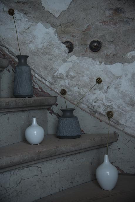Keramická váza, biela,