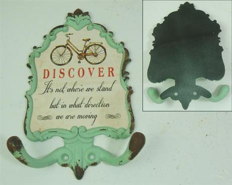 Kovový vešiak s 2 háčikmi, Discover,