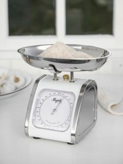 Kuchynská váha Mynte, biela,