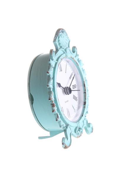 Stolové hodiny, tyrkysová patina,
