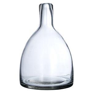 Váza, číre sklo,