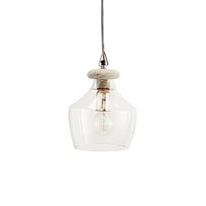 Závesná sklenená lampa,