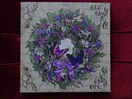 Fialové obrazy 2 ks - obraz plátno,