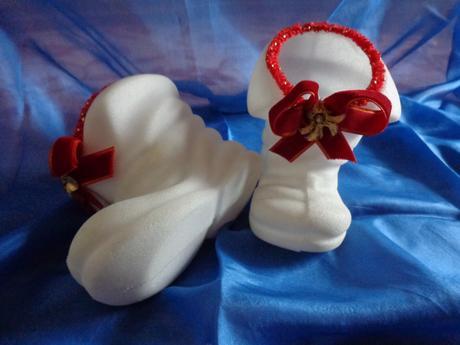 Mikulášske kapčeky biele - 2 ks  ,
