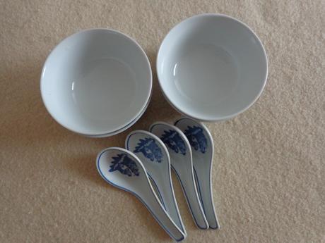 Misočky modro biele 5ks,