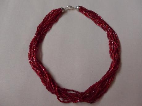 Vínový rokajlový náhrdelník,