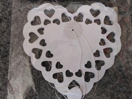 Papírová girlanda-Srdce,