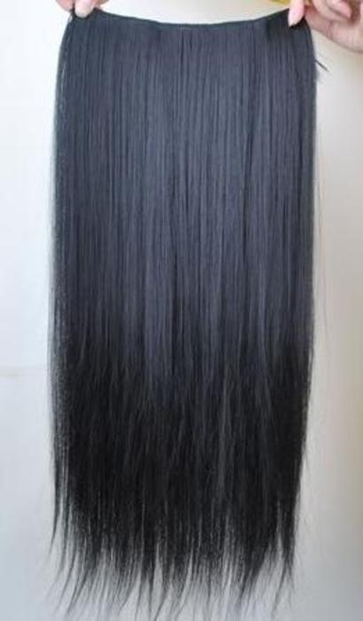 Černé rovné clip in vlasy levně,
